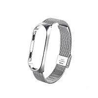 Металлический ремешок oneLounge Milanese Loop Silver для Xiaomi Mi Band 3/4