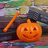 Тыква светящиеся с ручкой, фонарик декоративный на Хэллоуин, размер 15х13 см, фото 1