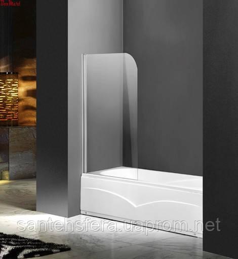 Штора для ванны Atlantis PF-74 (прозрачное стекло)  85х140 см