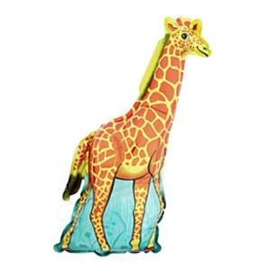 Фольгированный шар Жираф 45см х 25см Оранжевый