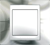 Рамка 1 пост. Unica Top хром блестящий /белый MGU66.002.810