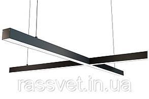 Светодиодный светильник крестообразный, подвесной, накладной, профильный ,офисный  2500k-6000k 20-300 вт X