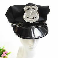 Фуражка карнавальная полицейского - головной убор для карнавала, размер универсальный