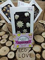 Натуральный шоколад AUGUST на кэробе с соленым попкорном и медовой грушей