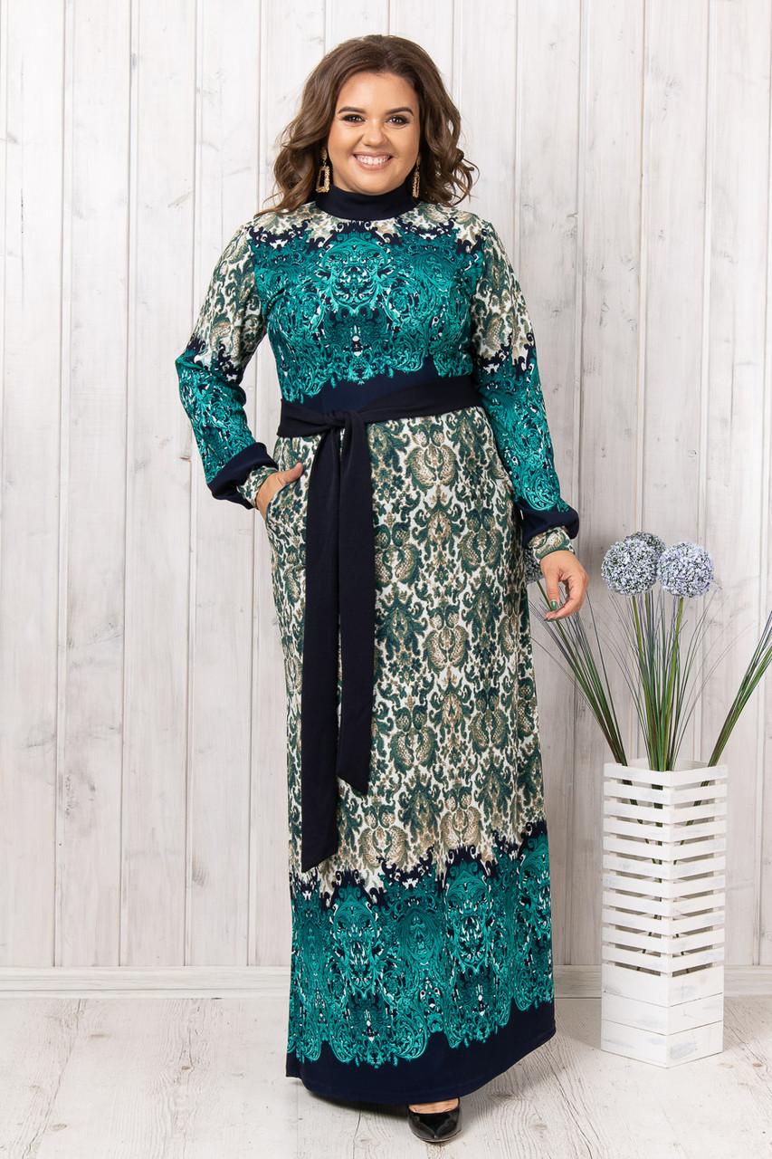 Батальное платье длинное в пол (52)