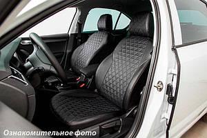 Чехлы для Toyota Camry экокожа рисунок ромб (Seintex)