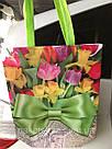 Эко-сумка с ручками ''Цветы'', 31*42*12 см, фото 2