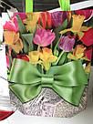 Эко-сумка с ручками ''Цветы'', 31*42*12 см, фото 3