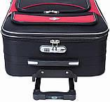 Дорожный чемодан на колесах тканевый Bonro Style большой черный, фото 5