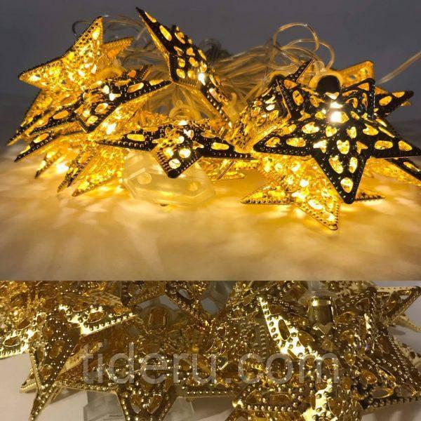 Гирлянда Звезда золото 20 LED