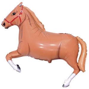 Фольгированный шар Лошадь 29см х 42см Коричневый