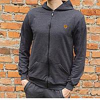 Спортивная мужская кофта с логотипом Темно-серый