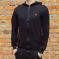 Спортивная мужская кофта с логотипом Черный