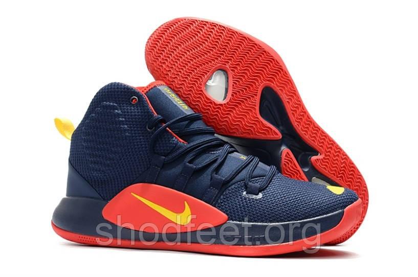 Мужские баскетбольные кроссовки Nike Hyperdunk X 2018 HD Dark Blue Red Yellow