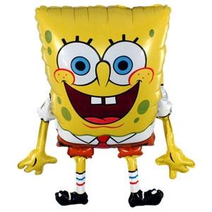 Фольгированный шар Спанч Боб 40см х 36см Желтый