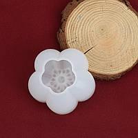 Форма для эпоксидной смолы, 3D Молд, Силиконовый, Цветок, Сакура, Белый, 5.9 см x 5.8 см