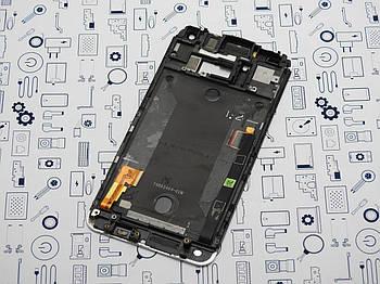 Дисплей HTC One M7 802W модуль серебро Сервисный оригинал с разборки