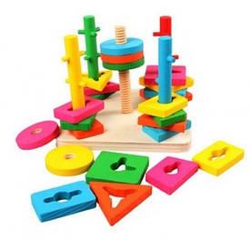 Геометрики, пирамидки, сортеры, игры на логику