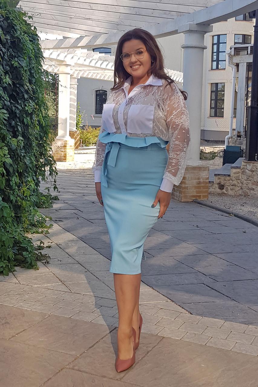 Женская гипюровая блуза 0237