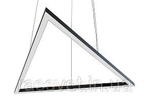 Светодиодный светильник треугольник , подвесной, накладной, профильный ,офисный  2500k-6000k 30-380 вт T