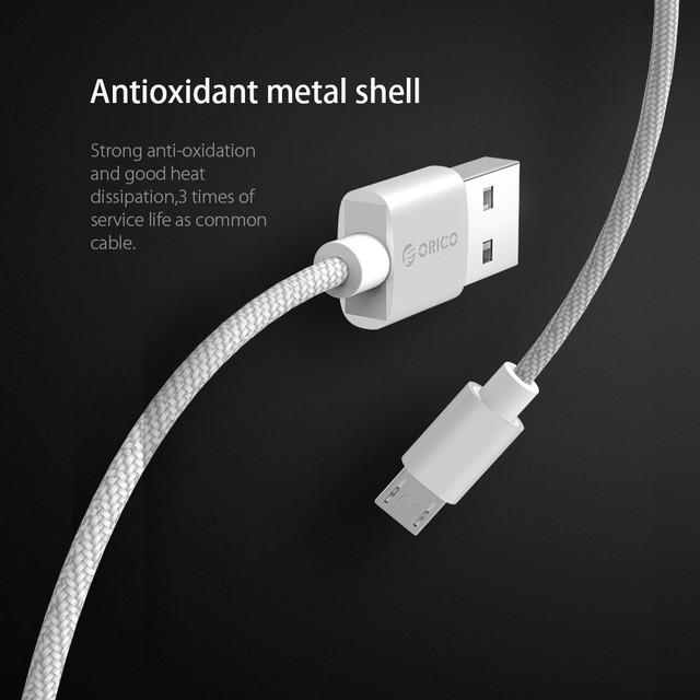 Кабель Micro USB Orico MTF-10 для заряджання і передачі даних (Чорний, 1м)