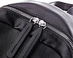 Рюкзак женский кожзам Young Blood черный с брелком, фото 6