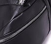 Рюкзак женский кожзам Young Blood черный с брелком, фото 7