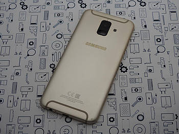 Б.У. Корпус Samsung A6 2018 SM-A600FN крышка задняя золотая Оригинал