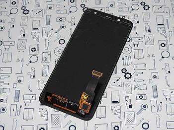 Дисплей Samsung A6 2018 SM-A600FN (s.amoled) модуль черный Сервисный оригинал с разборки