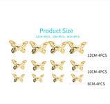 Бабочки золотистые на скотче - 12шт. в наборе, так же есть 2-х стронний скотч в наборе, фото 2