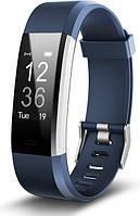 Смарт часы Lemfo ID115 HR Plus Фитнес браслет Lemfo для спорта туризма стильный Синий SKU_366
