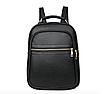 Рюкзак женский кожзам городской Casual черный, фото 2