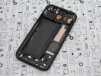 Б.У. Дисплей Samsung A7 2017 SM-A720F модуль в сборе (s.amoled) черный Оригинал