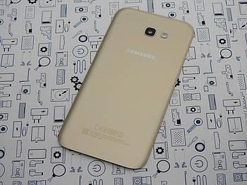 Б.У. Корпус Samsung A7 2017 SM-A720F крышка задняя золотая Оригинал