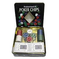 Покерный набор 100 фишек, 2 колоды карт