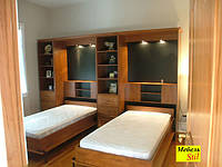 Шкаф-кровать с подсветкой для спальной комнаты
