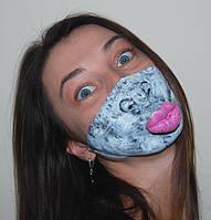 """Полумаска """"Ужастик"""" губы! Поклонники оценят ваши поцелуи!"""