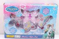 Детская косметика шкатулка Бабочка, 3 яруса, тени, помада, лак, Фроузен Frozen, V92988A, фото 1
