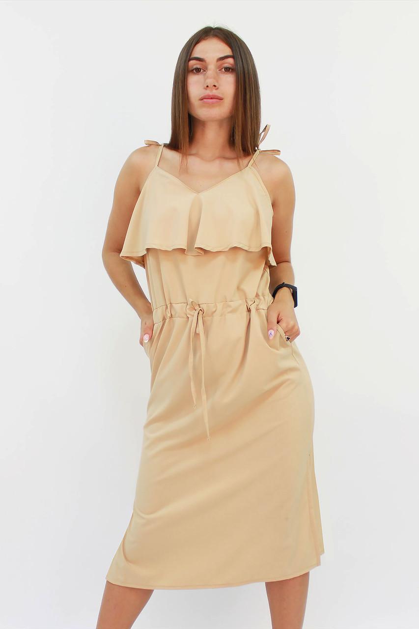 S, M, L / Молодіжне повсякденне плаття Janice, бежевий