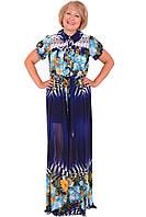 Стильное летнее платье  модного цвета больших размеров