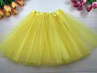 Юбка карнавальная из фатина, цвет желтый, размер 30 см