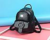 Рюкзак женский кожзам с брошкой Черный, фото 3