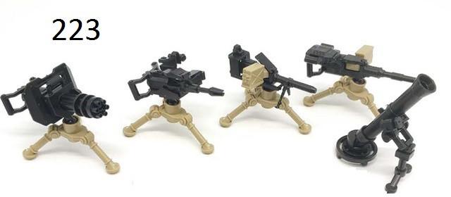Оружие для фигурок  Шестиствольный пулемет Гатлинга Миниган миноискателя Лего lego