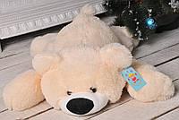 Большой плюшевый медведь лежачий 85 см.