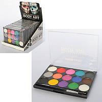 Аквагрим, краски для лица и тела боди арт(14цветов), professional body art3549