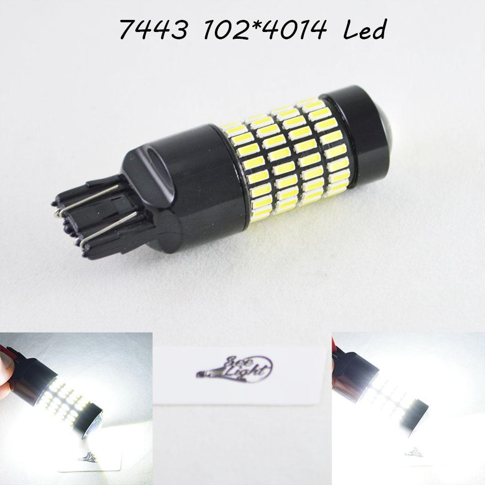 Автомобильная лампа SLP LED 102-4014 SMD в задний ход с цоколем 7443(7440)(W21W)(W21/5W)  Белый