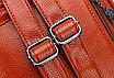 Рюкзак женский кожзам с брошкой Бордовый, фото 6