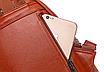 Рюкзак женский кожзам с брошкой Бордовый, фото 8