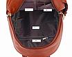 Рюкзак женский кожзам с брошкой Бордовый, фото 9