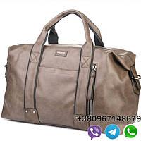 Дорожная сумка David Jonesдля командировок цвет коричневый, кожаная сумка Давид Джонс